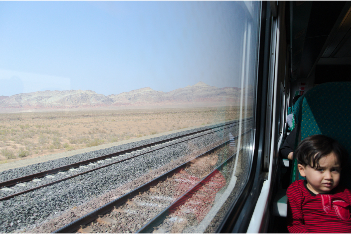 Train rides in Iran