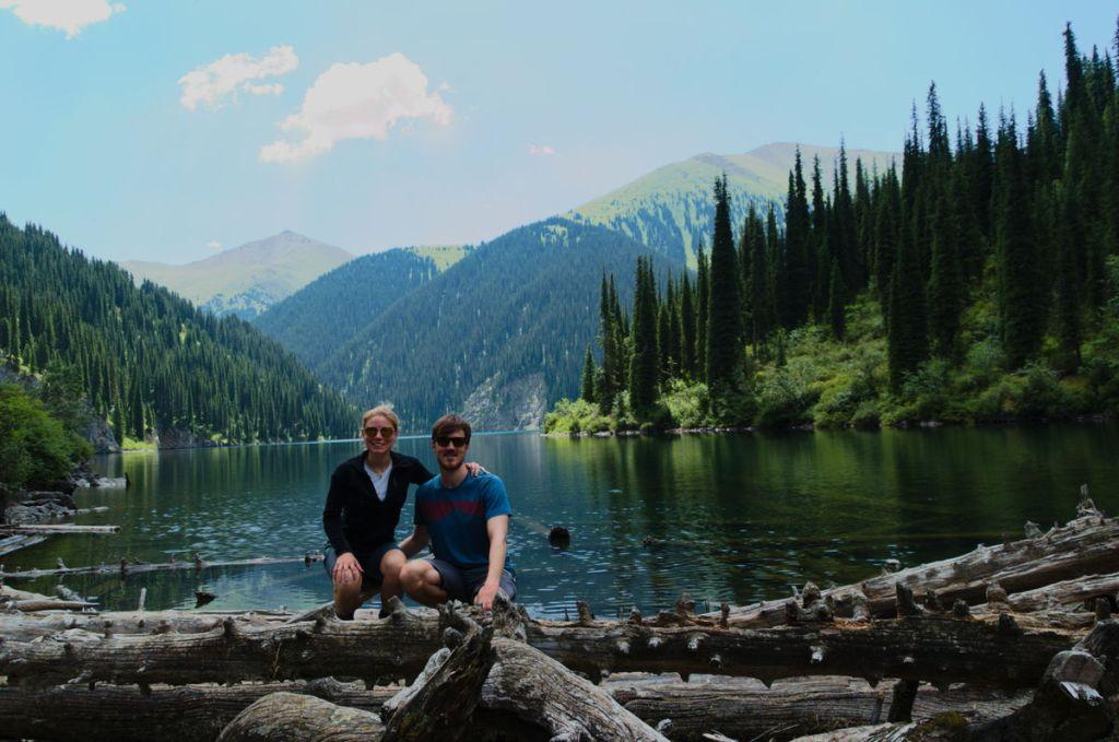 Wanderung zu den Kolsai Seen in Kasachstan.