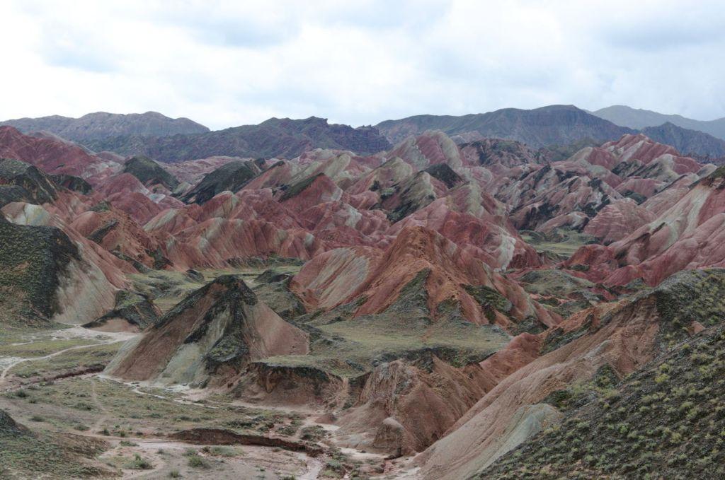 """""""Die farbigen Berge"""" im Westen Chinas"""
