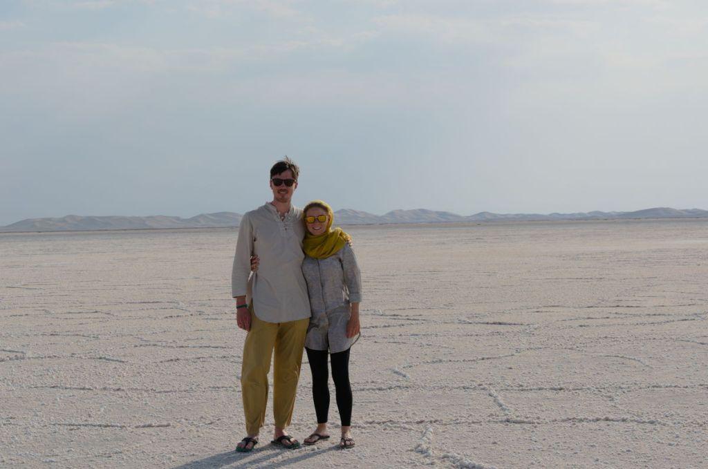 Getrockneter Salzsee im Iran. Ein unbeschreibliches Land!